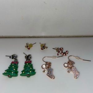 Jewelry - Christmas theme sterling silver earring bundle